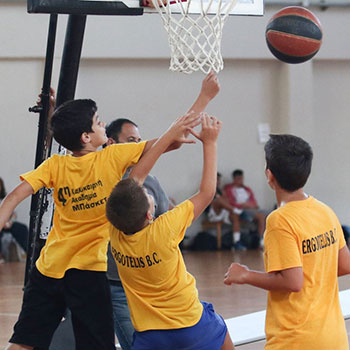 Screenshot taken during the 3on3 event of the 2nd Crete International Bsketball Tournament