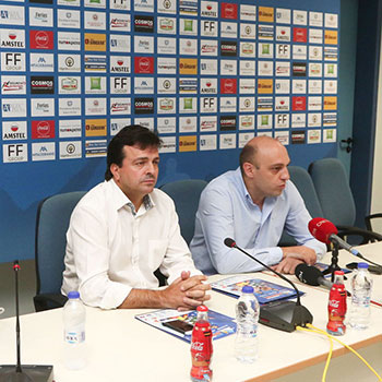 Press conference during the 2nd Crete International Basketball Tournament