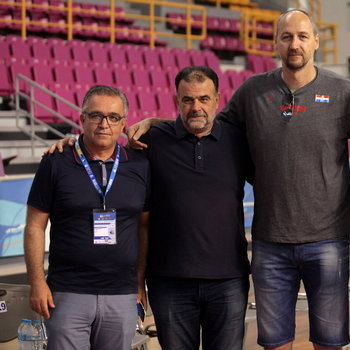 Dino Radja appearance during the 3rd Crete International Basketball Tournament