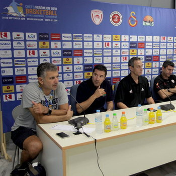 Press conference during the 3rd Crete International Basketball Tournament