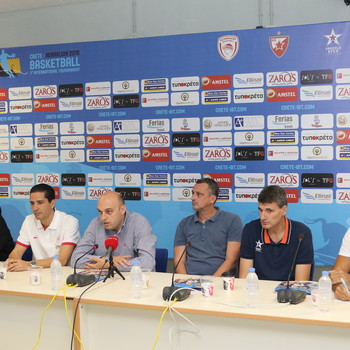Press conference during the 1st Crete International Basketball Tournament
